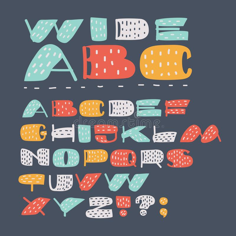 Sign Language And Alphabet. Cartoon Letters. Creative