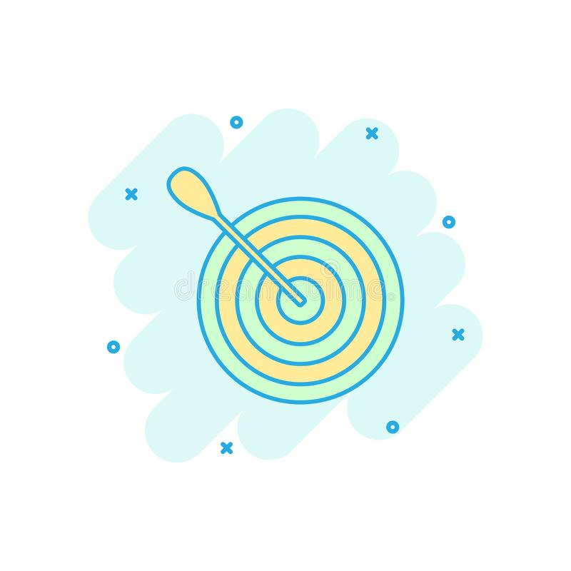 Free Vector Cartoon Target Aim Icon In Comic Style. Darts Game Illustration Pictogram. Dartboard Sport Target Business Splash Effect C Stock Photography - 130068142