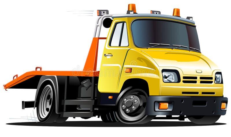 Vector cartoon tow truck royalty free illustration