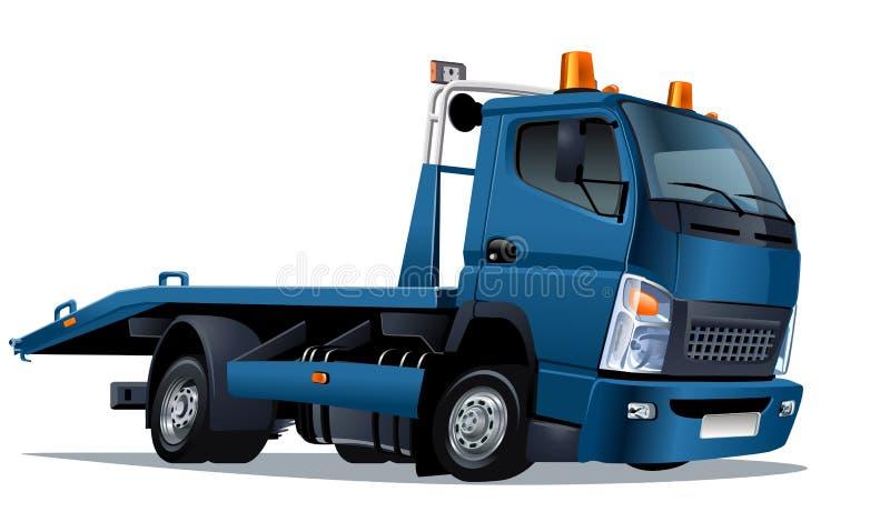 Vector cartoon tow truck stock illustration