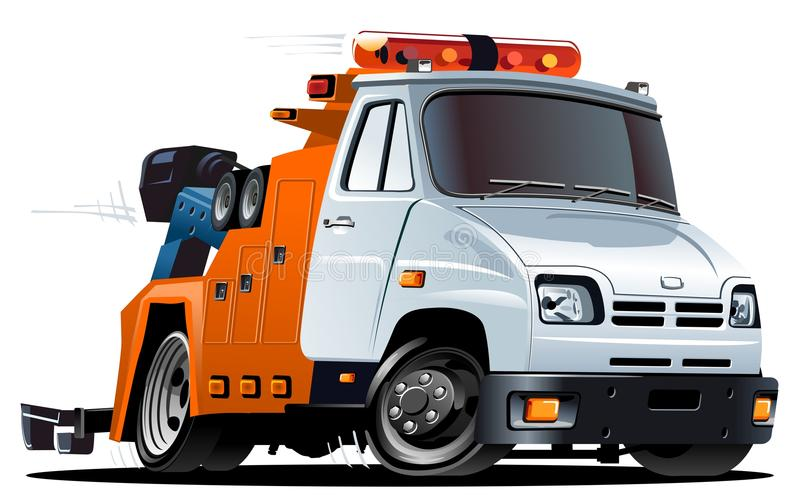 Download Vector cartoon tow truck stock vector. Image of driving - 22927888