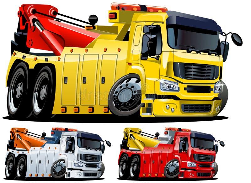 Vector cartoon tow truck. One-click repaint stock illustration