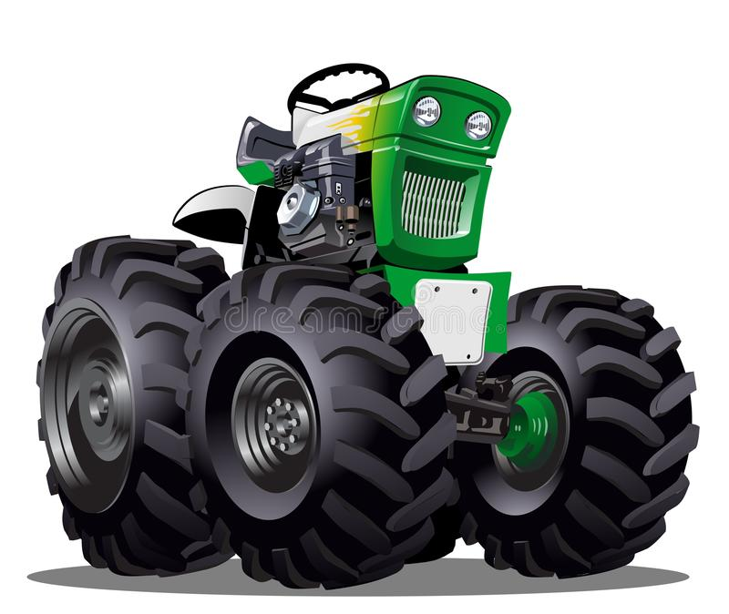 Vector Cartoon Tractor. Available AI-CS4 vector format separated by groups for easy edit royalty free illustration
