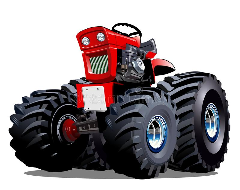 Vector Cartoon Tractor. Available EPS-10 vector format separated by groups for easy edit stock illustration