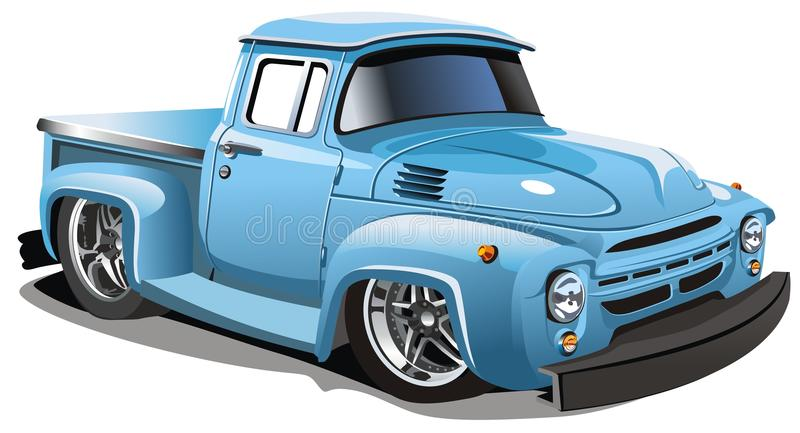 Vector cartoon truck royalty free illustration