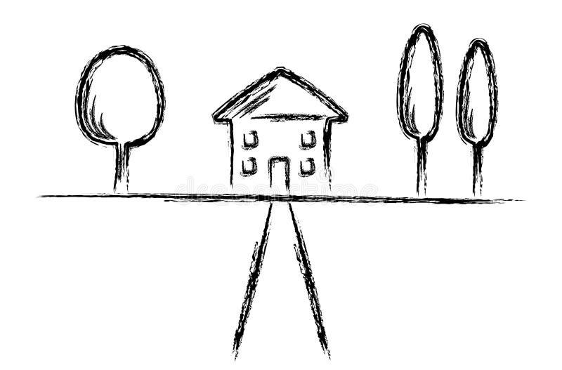 Vector a casa ilustração do vetor