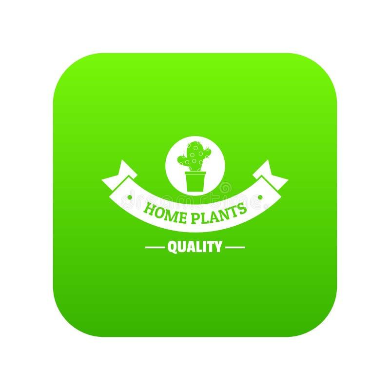 Vector casero del verde del icono del cactus de la calidad libre illustration