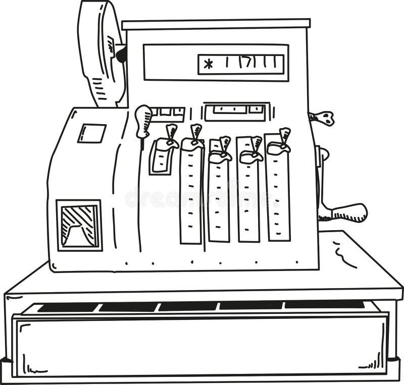 Vector - cash register royalty free stock photos