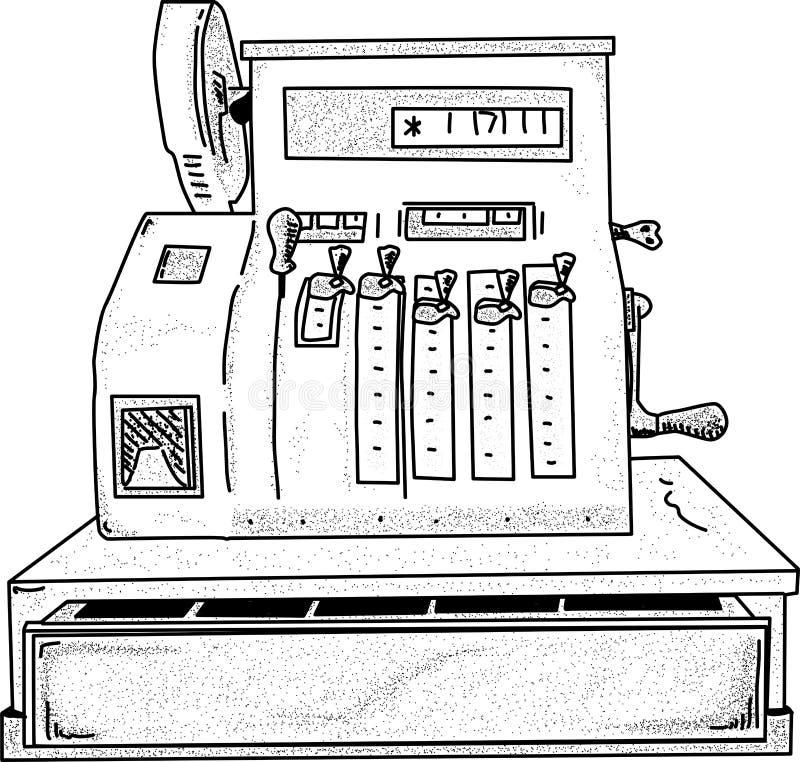 Vector - cash register royalty free stock image
