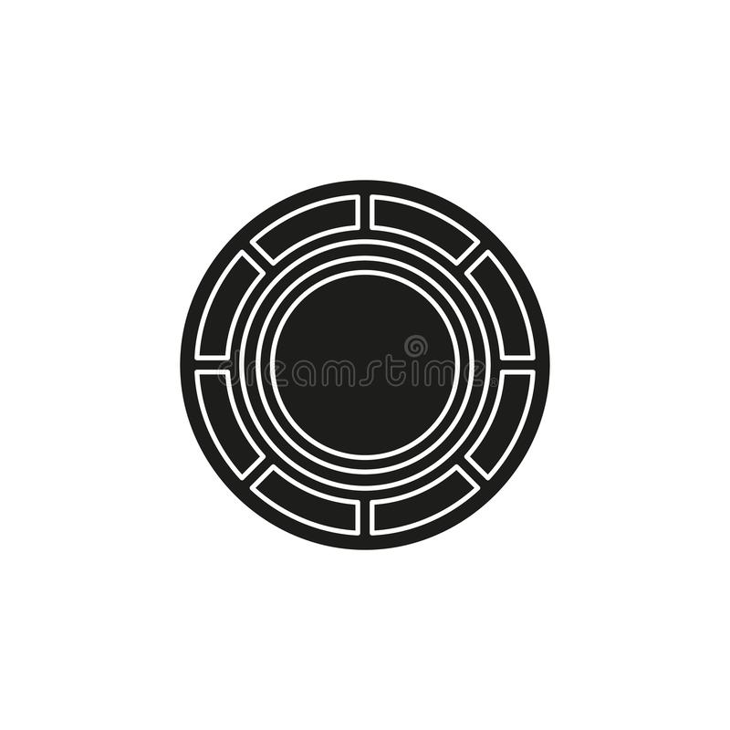 Vector casino chips, casino chips isolated royalty free illustration