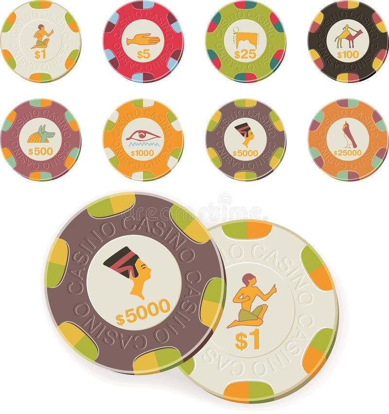 Vector casino chips set vector illustration