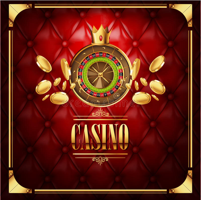 Vector casino gambling game luxury background royalty free illustration