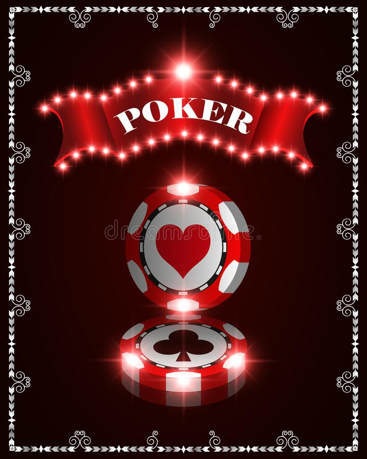 Vector casino poker winner chips, template for design backgrounds, cards, mockup of banners. Illustration. Vector casino winner poker chips, template for design stock illustration