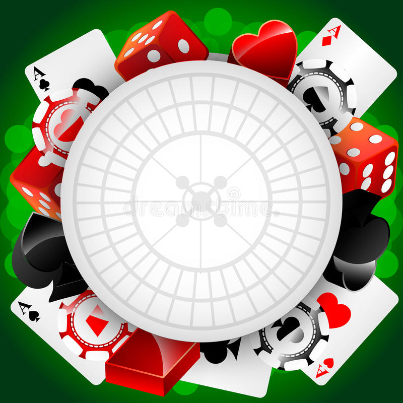 Vector casinoachtergrond royalty-vrije illustratie