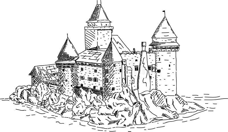 vector - The castle of Heidenreichstein royalty free illustration