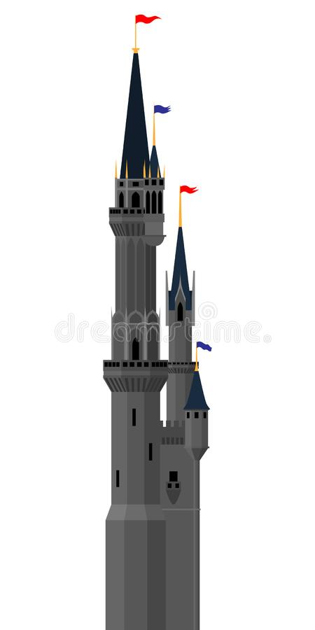 Vector castle tower royalty free illustration