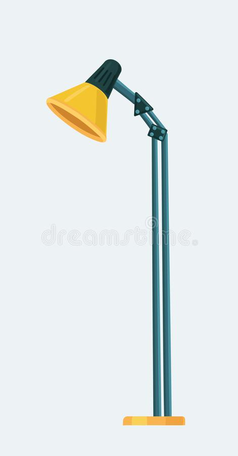 Illustration of isolated floor lamp on white background vector illustration