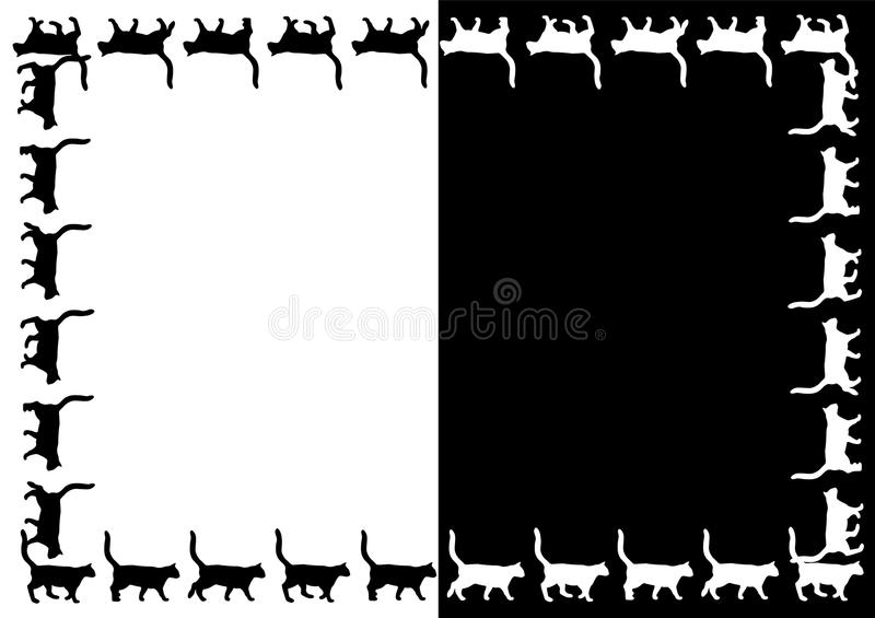 Vector Cats frame. royalty free illustration