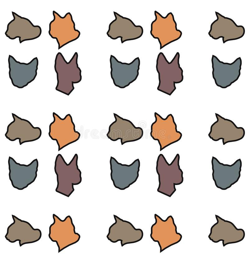 Vector cats pattern royalty free stock photography