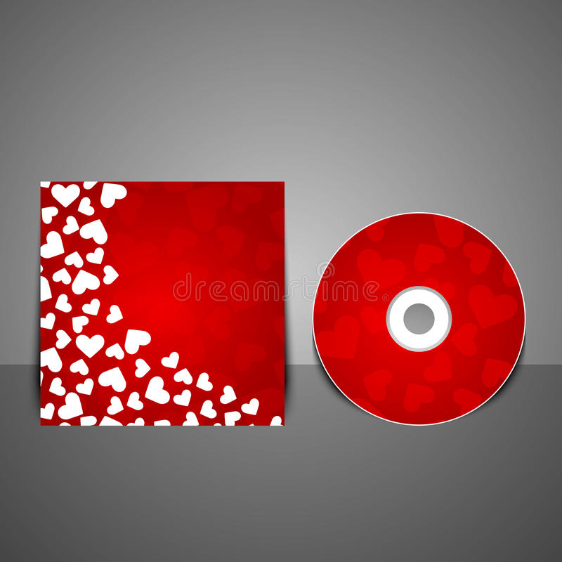 Vector cd cover design template. Vector illustration stock illustration