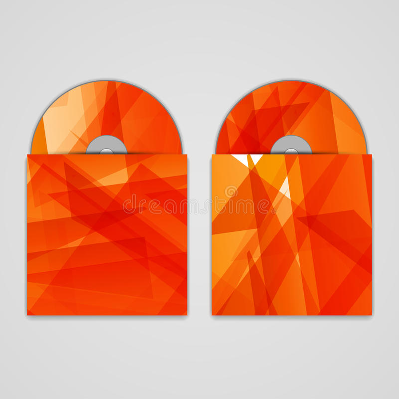 Vector cd cover set for your design, abstract vector illustration
