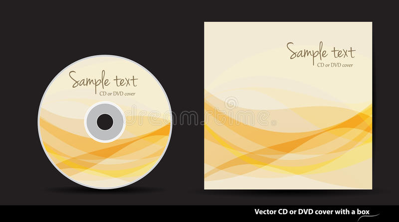 Vector CD or DVD cover design. Abstract CD or DVD cover design vector illustration