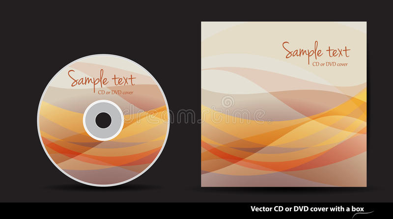 Vector CD or DVD cover design. Abstract CD or DVD cover design stock illustration