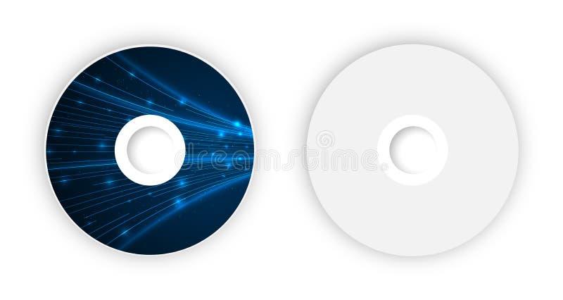 Vector CD template. Illustration for your business artwork stock illustration