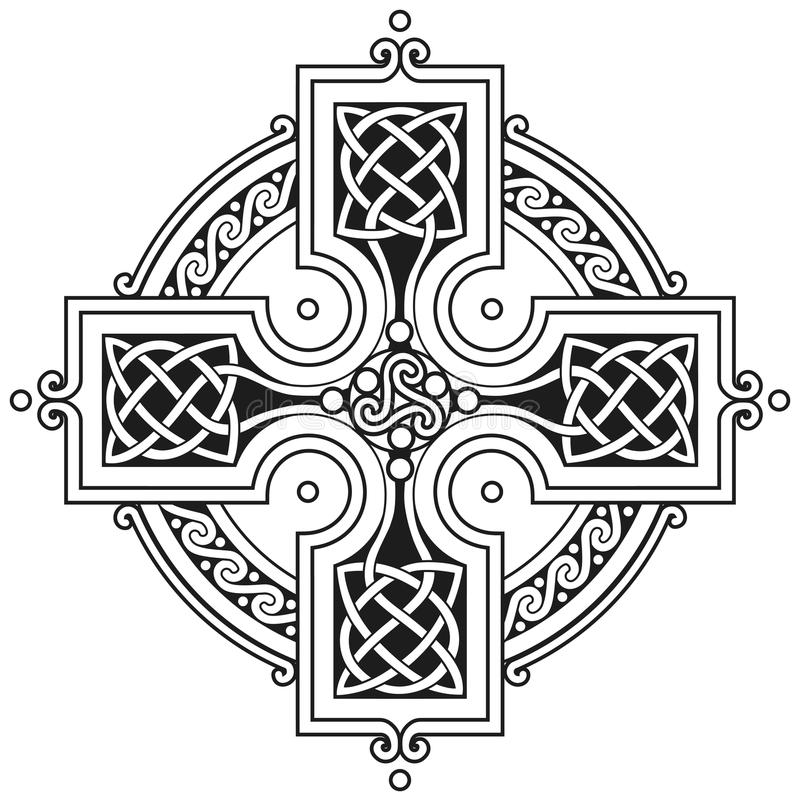 Vector celtic cross traditional ornament stock illustration