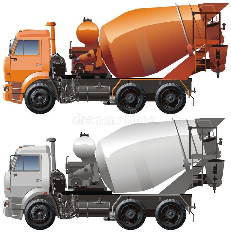 Download Vector cement truck stock vector. Image of vector, side - 6927350