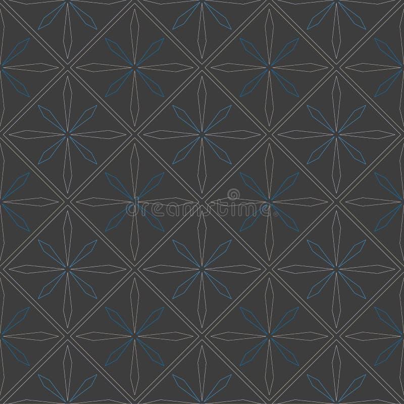 Ceramic tile with seamless pattern. Illustration royalty free illustration