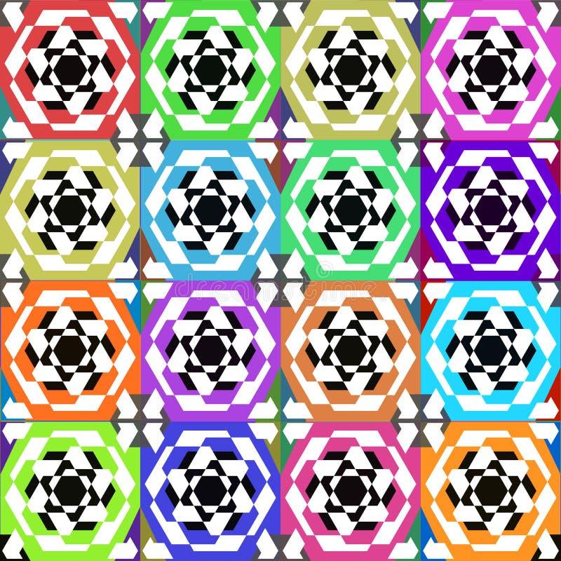 Bitmap ceramic tiles with seamless pattern. Bitmap illustration ceramic tiles with seamless pattern royalty free illustration