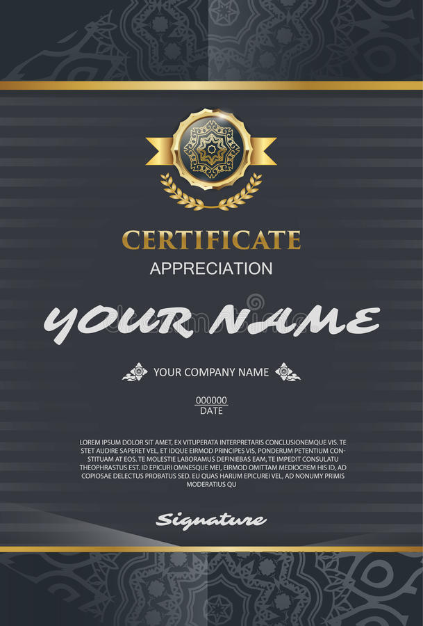 Vector certificate template. elegant and stylish. With the certificate award. vector illustration