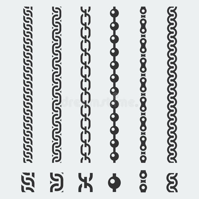 Vector chains patterns royalty free illustration