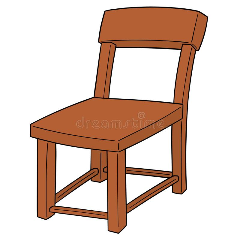 Vector of chair. Hand drawn cartoon, doodle illustration stock illustration