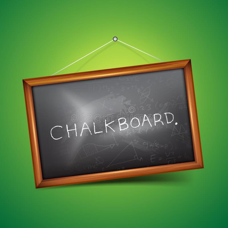 Download Vector Chalkboard stock photo. Image of green, school - 26272762