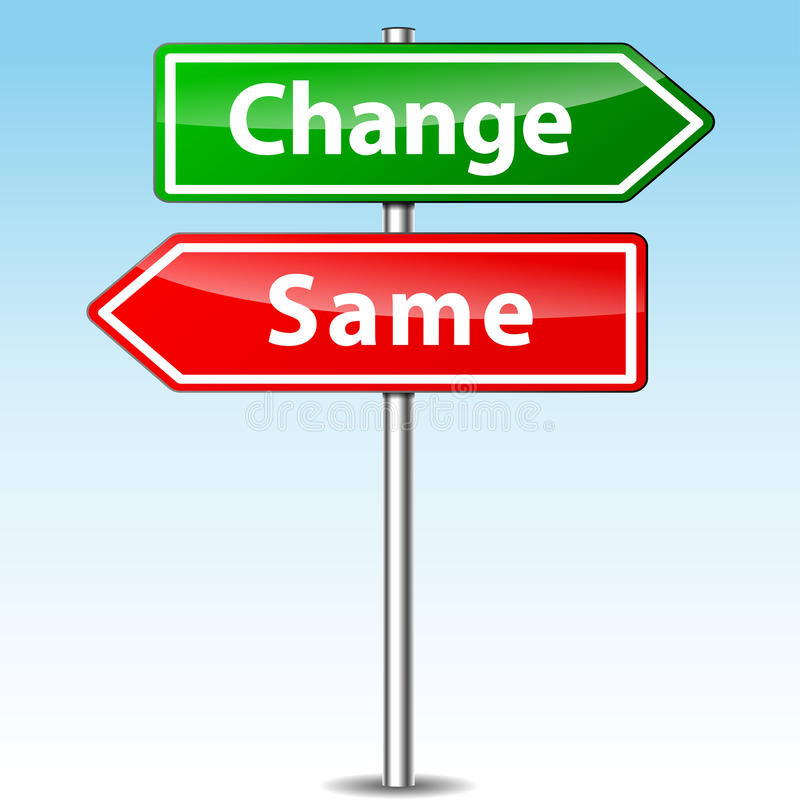 Vector change and same direction sign. Vector illustration of change and same direction sign stock illustration