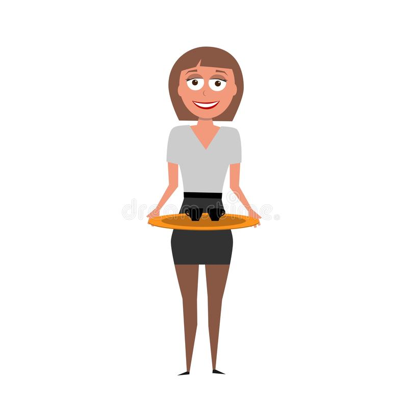 Vector character of assistant royalty free stock image