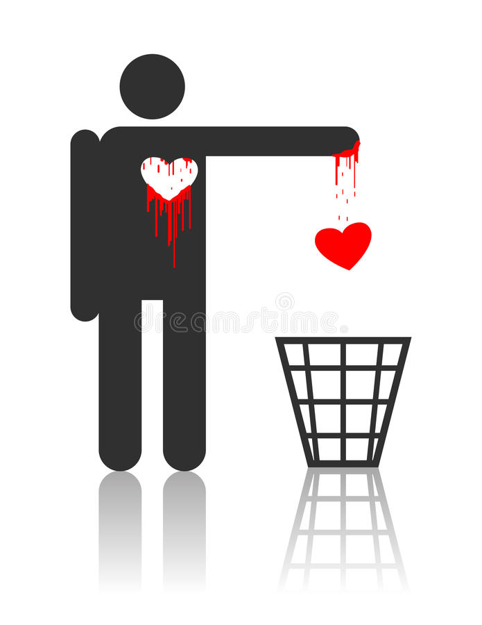 Download Vector Character With Bloody Heart Stock Vector - Image: 17642123