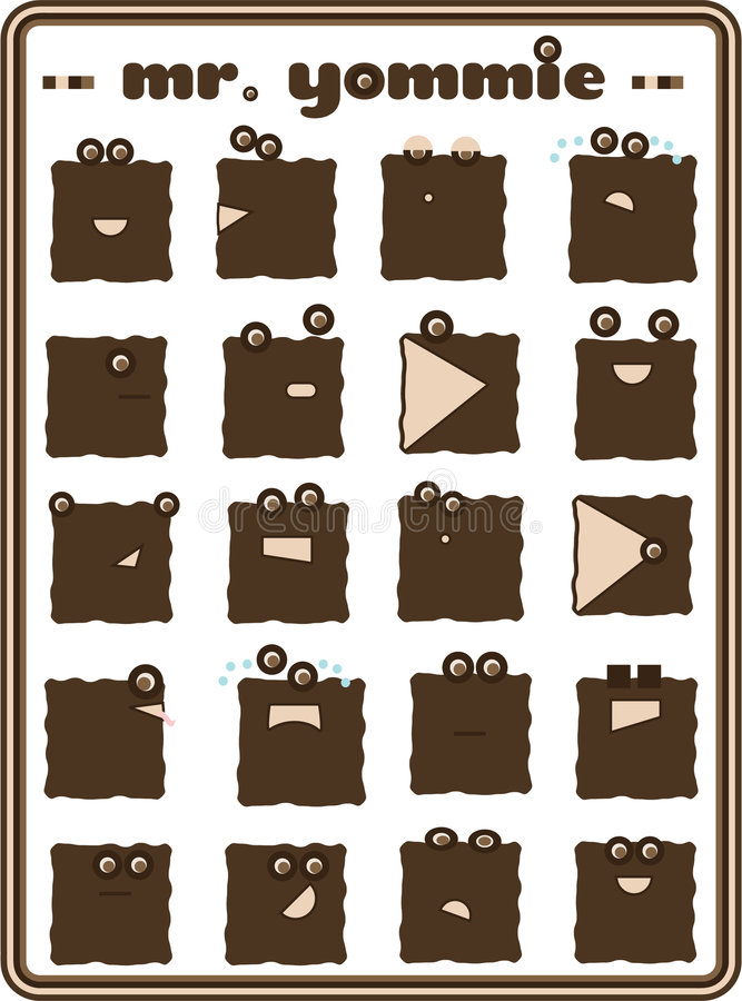 Download Vector Character Collection Stock Illustration - Illustration: 7478937