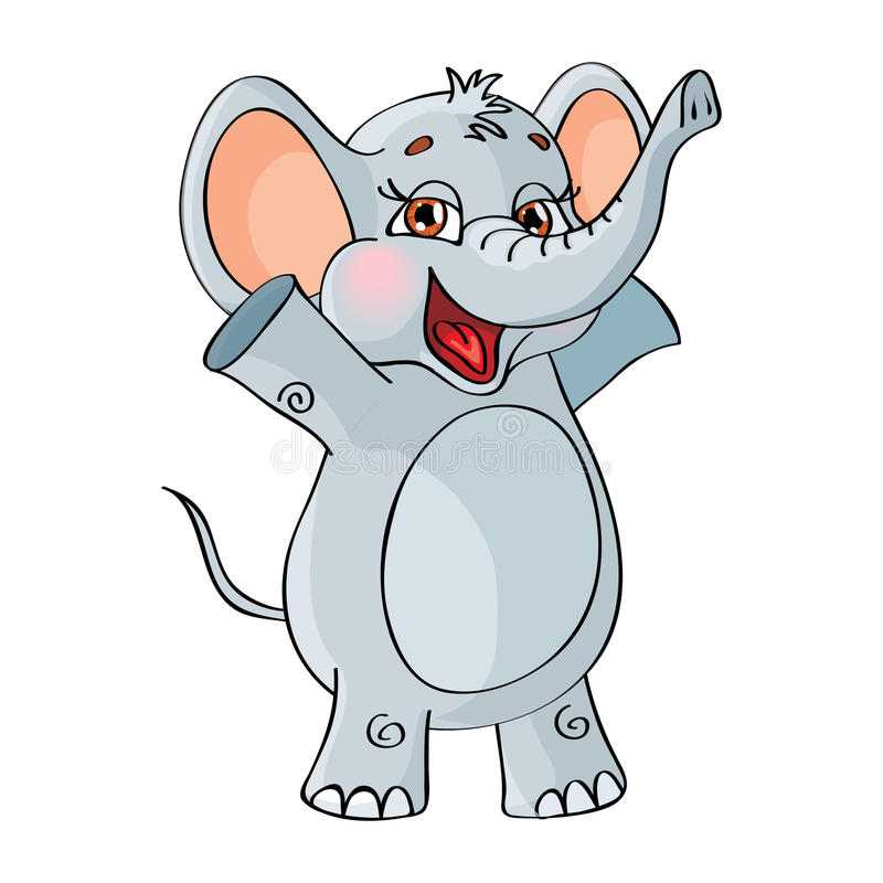 Download Vector Character. Elephant. On A White Background. Stock Vector - Image: 38732662