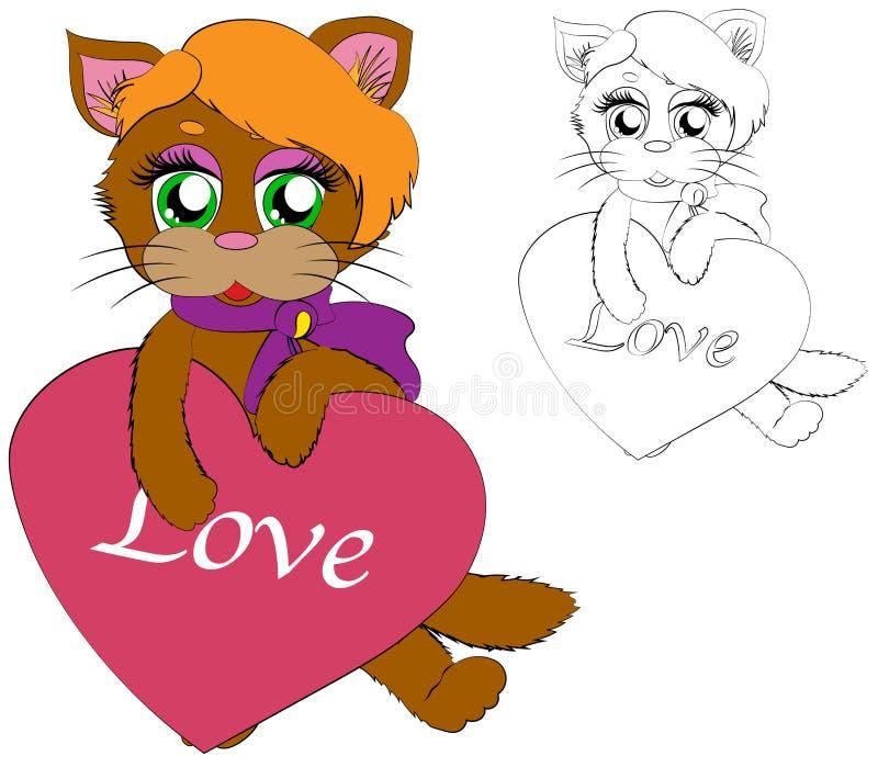 Cat Heart Coloring Stock Illustrations 478 Cat Heart Coloring Stock Illustrations Vectors Clipart Dreamstime
