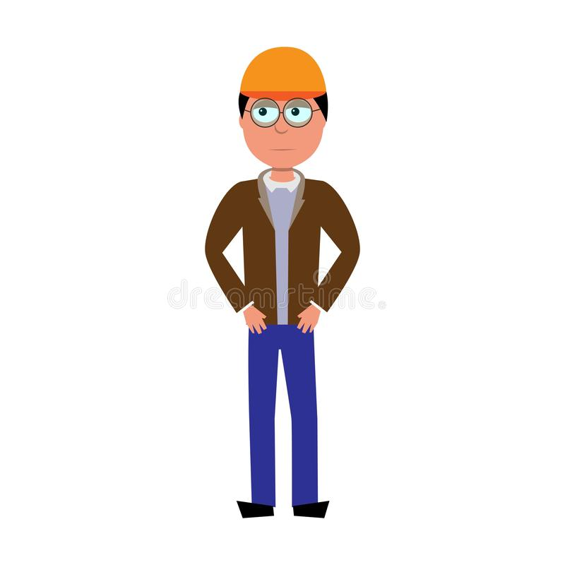 Vector character of site manager stock images
