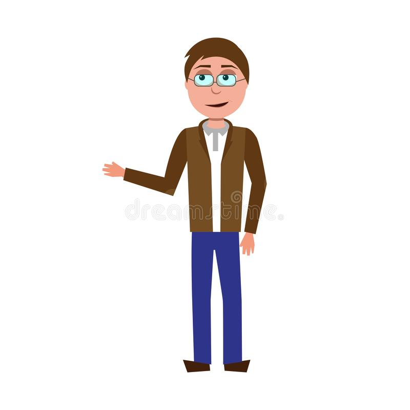 Vector character of teacher royalty free stock images