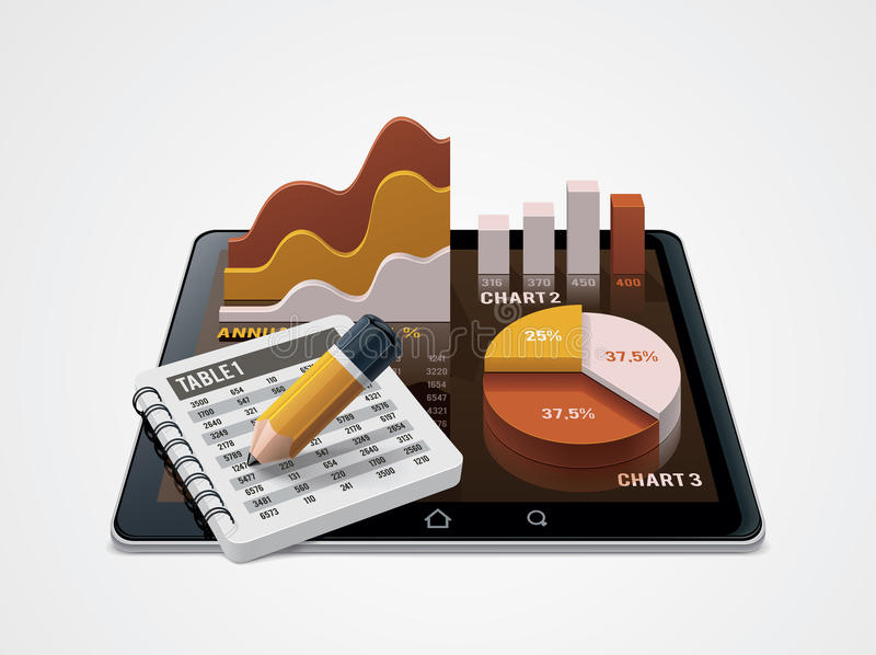 Vector Chart And Table Editor Icon Stock Photography
