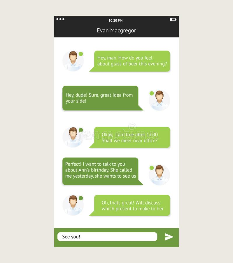 Vector chat frames message boxes for your text royalty free illustration