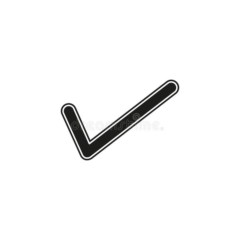 vector Check mark symbol - yes or ok - approved sign, vote checklist royalty free illustration