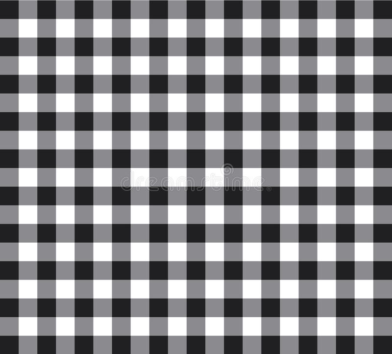 Vector Black And White Checked Tablecloth Background Illustration