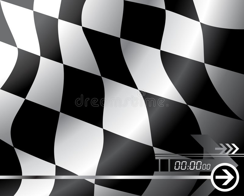 Download Vector Checkered flag stock vector. Image of championship - 5085070