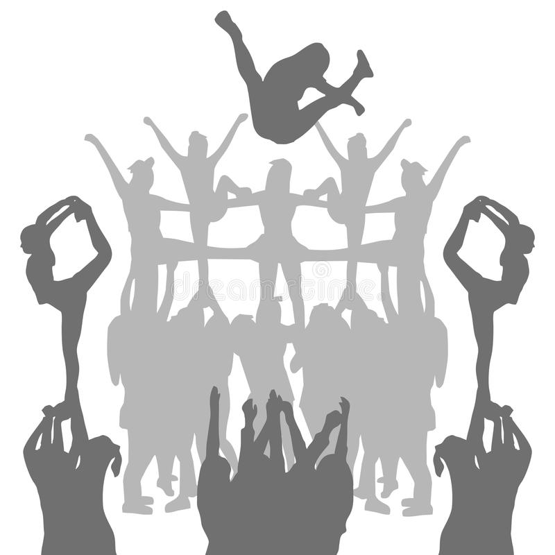 Free Vector Cheer Silhouette Shape Shadow Stock Photography - 114546142